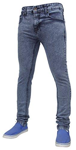 True Face - Herren Jeans Dehnbar Hauteng Reißverschluss Hosenschlitz Baumwolle Hose - 30WX34, TF021 - Eisblau