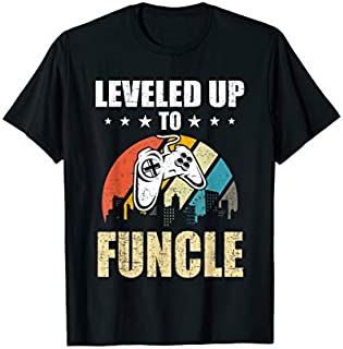 [Featured] Leveled up to Funcle Funny Video Gamer Gaming Gift in ALL styles | Size S - 5XL