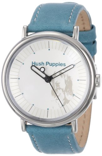 Hush Puppies Women's HP.3760L.2503 Signature Round Stainless Steel Genuine Leather Watch
