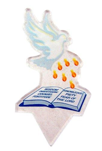 Acrylic Catholic Confirmation Celebration Cake Topper, 3 1/2 -