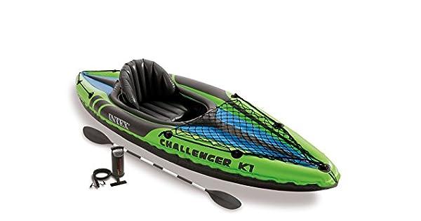 Amazon.com: challenger K1 Kayak con remos y bomba diseño ...