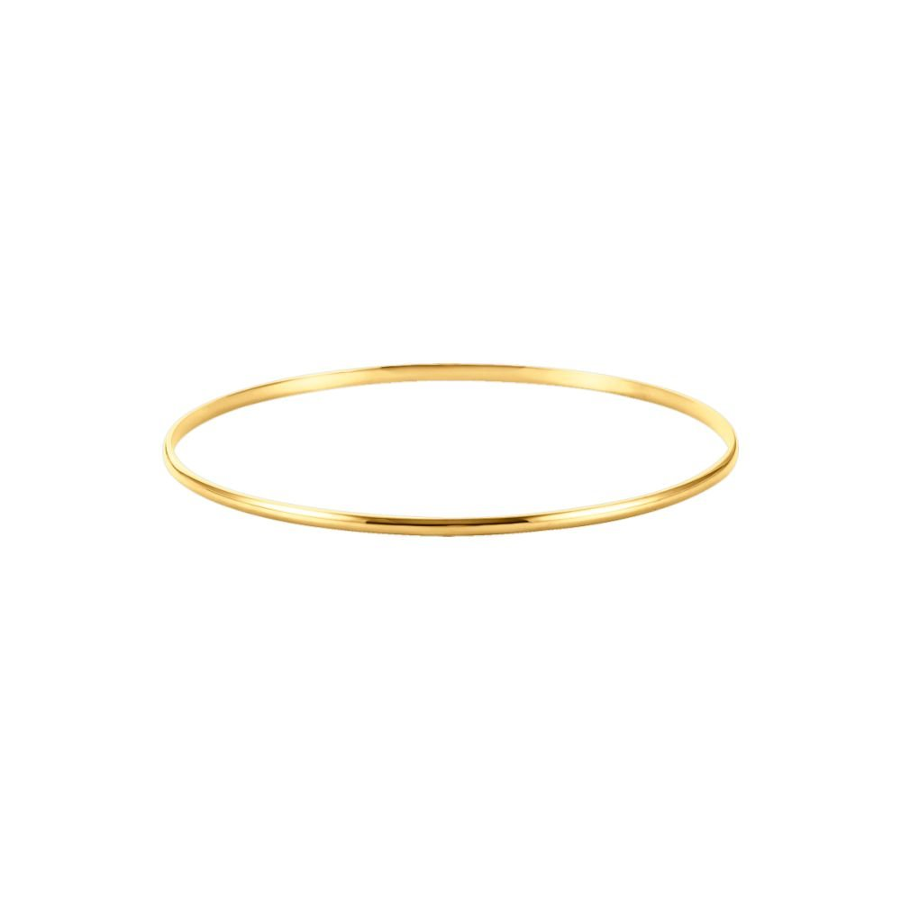 2.0 mm Half Round Bangle Bracelet in 14K Yellow Gold by Eternity Wedding Bands