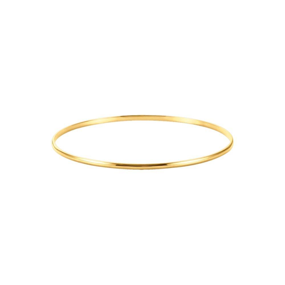 2.0 mm Half Round Bangle Bracelet in 14K Yellow Gold
