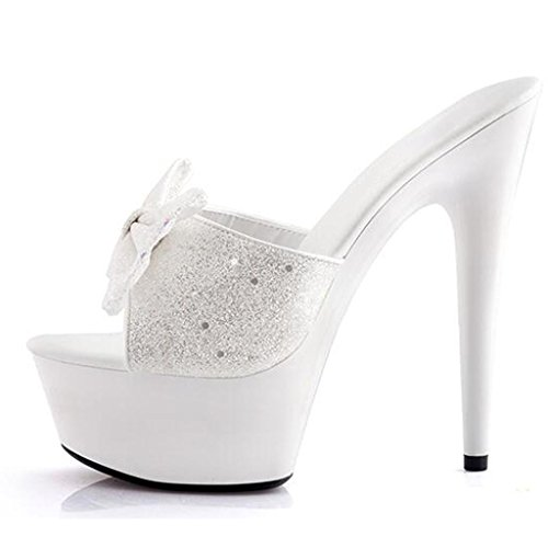 Calzado Lugar Zapatos Salón Grueso Al Trabajo Altos De Libre Flop Aire Flip E Tacones Mujer Fondo 15cm Impermeable Sandalias Plataforma Baile aPqaw4r