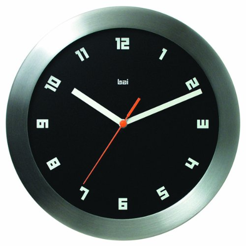 Bai Brushed Aluminum Wall Clock, Milan