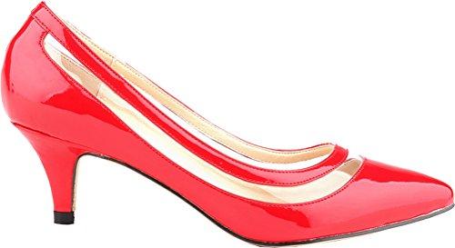 Compensées red red CFP CFP femme Sandales Sandales femme Compensées CFP qwzgxwFtC