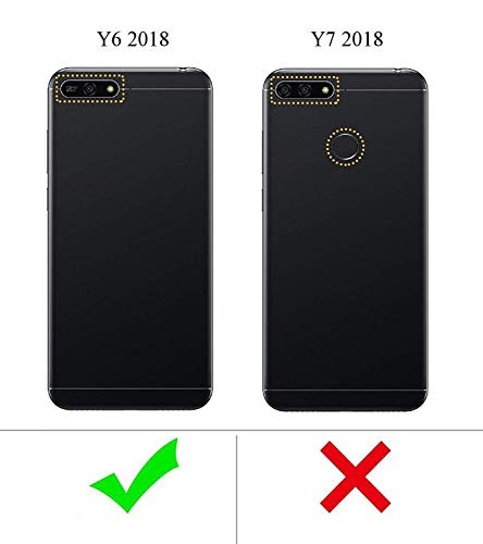 Toppix Case for Huawei Y6 2018, Hard PC Backcover [Anti