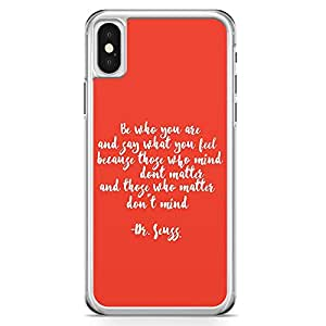 Loud Universe Dr seuss Dont Matter Dont Mind Quote iPhone x Case Classic Book Story iPhone x Cover with Transparent Edges