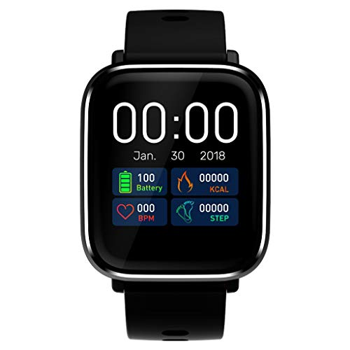 Kiar Smart Sport Bracelet Blood Pressure Heart Rate Monitoring Health Fitness Tracker Smart Band Calorie Counter, Step Counter, Pedometer Walking for Men Women