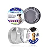 Dog Flea Treatment Collar - 2 Pack Flea and Tick Control Adjustable Waterproof Collar Protect for Dogs/Cats - Last for 8 Months with Natural Plant Extracts Pet Treatment Prevention Fits All