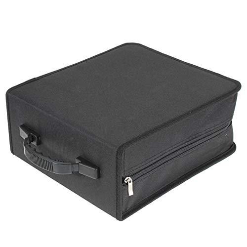 Mink Monk 320 Pcs CD DVD Dics Media Storage Cover Portable Carry Sleeve Hard Bag Case Wallet Holder Box w/Zipper Universal Sleeves Black