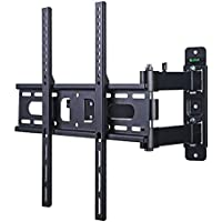 Lumsing Full Motion Articulating Arm Tilt Swivel TV Wall Mount Bracket for 23-47 Inch TV Plasma Flat Screen VESA 400X400mm Load Capacity 66lbs