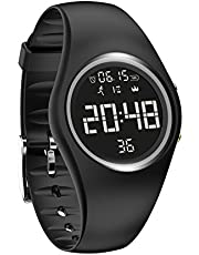 Fitness Tracker Waterproof Non-Bluetooth Pedometer Bracelet Smart Sport Watch with Pedometer Calories Counter Distance Time/Date Vibration Alarm for Walking Kids Women Men