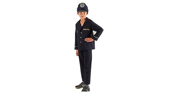 Krause & Sohn Disfraz de niños policía Matze 116-140 Uniforme de ...