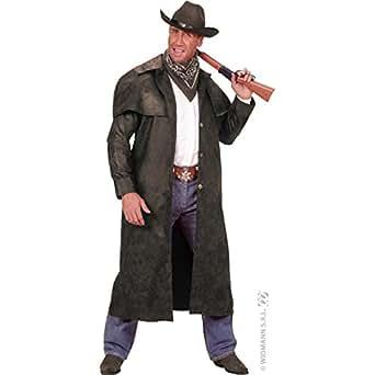 Disfraz de Abrigo de Cowboy Negro - Talla XL
