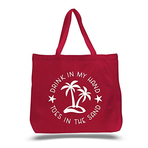 Beach Bag tote one of a kind Original Hand Painted  Tropical Palm tree