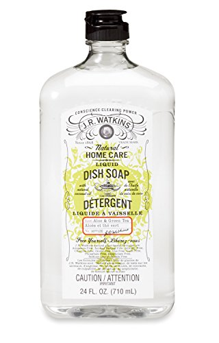 J.R. Watkins Liquid Dish Soap, Aloe & Green Tea, 24 fl. oz.