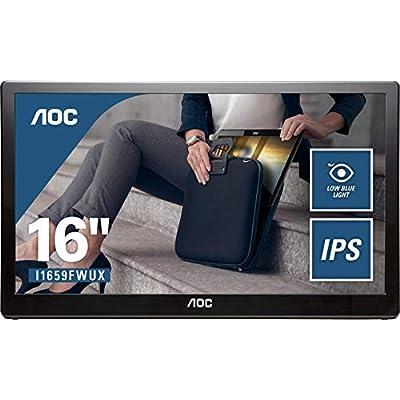 AOC I1659FWUX 15 6  Widescreen IPS LED Glossy Black USB Monitor  1920x1080 5ms USB