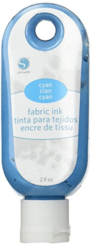 - Silhouette Fabric Ink, Cyan