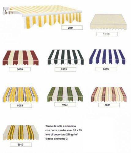 Tende Da Sole 4 Metri.Tenda Tende Da Sole A Sbraccio Cm 395x250 9 Colori