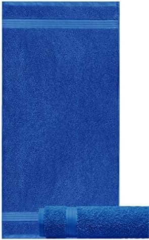 Linz sports towels colour royal blue Lashuma hand towels set of 2 cotton towels bath 50x100 cm