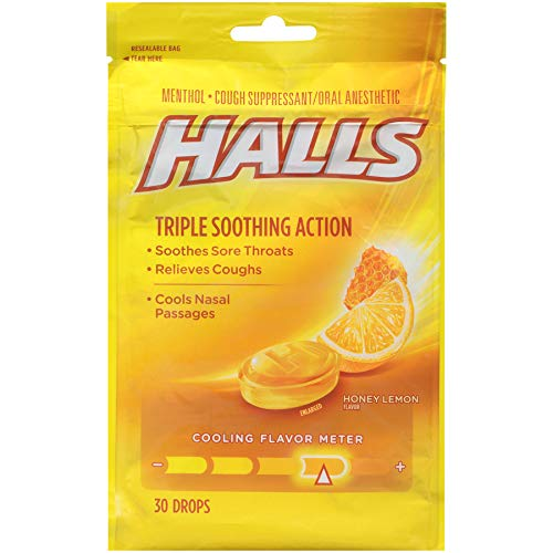 - HALLS Cough Drops, Honey-Lemon, 30 Count