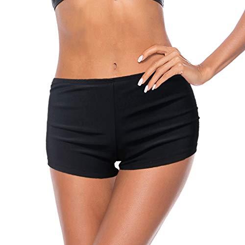 Limsea Women's 2019 Beach Swimming Stretch Swim Board Quick Dry Athletic Trunks Shorts(Medium,Black) by Limsea Bikinis (Image #7)