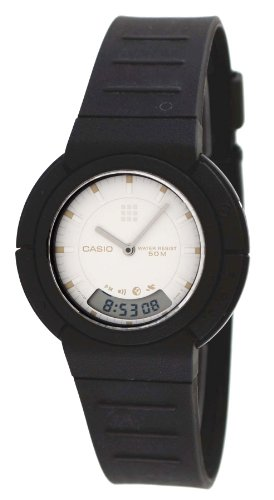 Vintage Casio White Analog Digital Watch (AW-55)