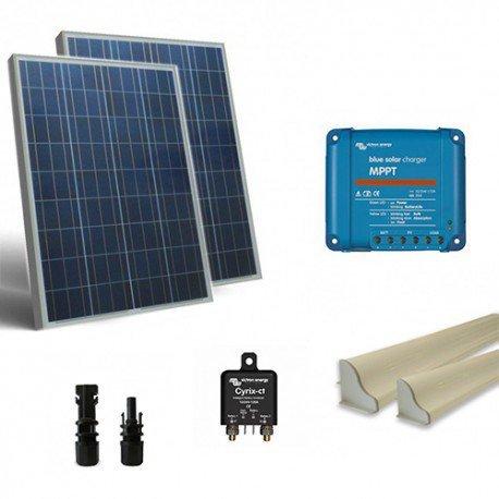 Solar Kit base-Hilfe 160W 12V Solar Panel Modul Poly Bewässerung Außen Zellen off-grid Haus Energiesparend Lampen Strom elettricita' Akkumulation Ladegerät Ladekabel Kit Verbandskasten