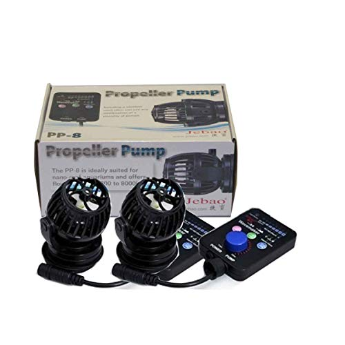 Jebao 2 Pump Set JECOD PP8 Wireless WAVEMAKER Aquarium Pump RW8 with New Mount