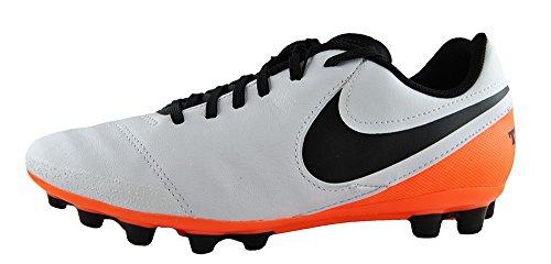 Nike Unisex Baby Jr Tiempo Legend VI AG Fußballschuhe Blanco (White / Black-Total Orange)