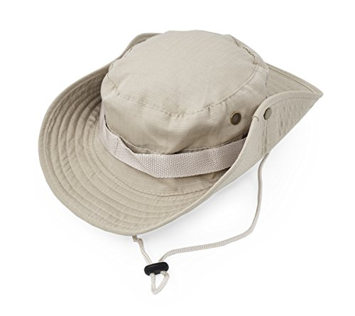 - Outdoor Wide Brim Sun Protect Hat, Classic US Combat Army Style Bush Jungle Sun Cap for Fishing Hunting Camping 3