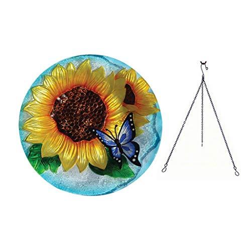 Songbird Essentials Blooming Sunflower Hanging Birdbath