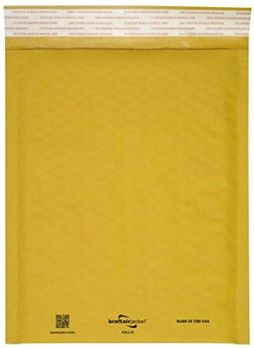 Airjackets Kraft padded envelopes 14x19 Bubble Mailers 14 x 19. Pack of 10 large bubble envelopes Peal and Seal. Yellow cushion envelopes. Shipping, mailing. Laminated golden kraft paper. Air ()