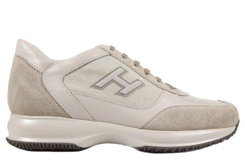 Hogan zapatos zapatillas de deporte hombres en ante nuevo interactive beige