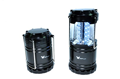 2 Pack of Water Resistant Portable Ultra Bright LED Lantern Flashlight for Hiking, Camping, Blackouts.