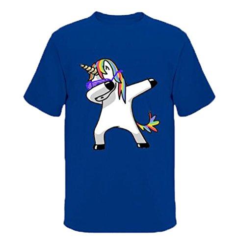 Loose Chemises Tayaho Été Haut Manches shirt Licorne T Top Col Imprimées Confortable Rond À Basique shirt Homme Casual Colour7 Mode Courtes Blouse Tee TgwxTqrt8