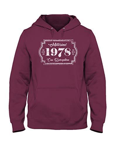 D'éxception 1978 Green Capuche Homme Bordeaux Turtle Millesimé Sweatshirt Cru Anniversaire shirts T IwFaFxqTY