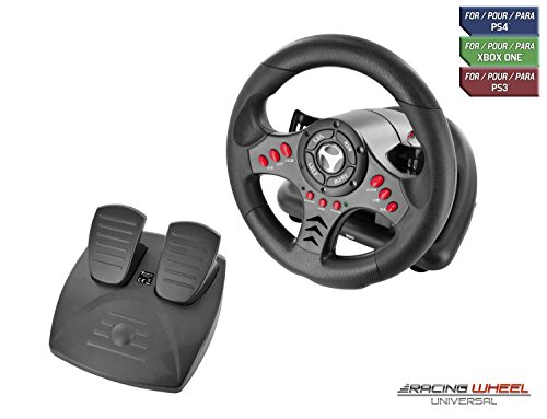 Subsonic SA5426 Racing Wheel Universal with Pedals for Playstation 4, PS4 Slim, PS4 Pro, Xbox One, Xbox One S, PS3 (Gta V Best Price)