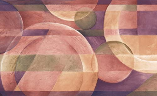 """抽象プレートサークルキッチン壁紙ボーダーレトロデザインロール15 'x 7 """""""