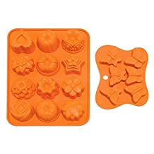 Fondant Moulds Non-stick Flower & Butterfly Silicone Baking Mold for Cake, Candy, Chocolate, Jelly, Fondant and Soap Making Random Color