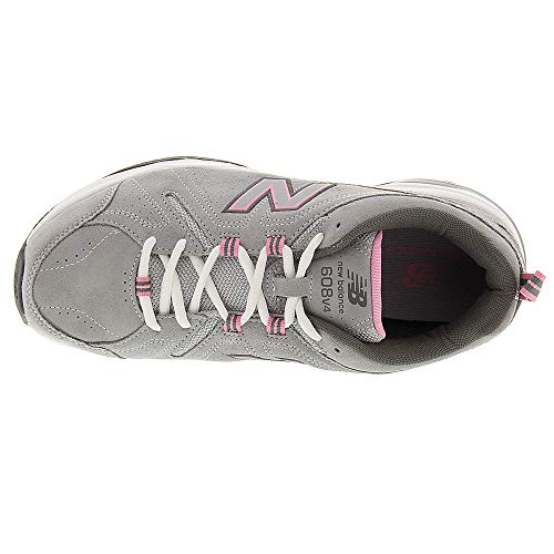 New Balance Women's 608v4 Suede,Grey/Pink,US 6.5 2A by New Balance (Image #1)