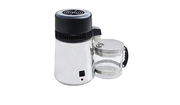 CGOLDENWALL Máquina destiladora de agua para encimera, 4 L, acero ...