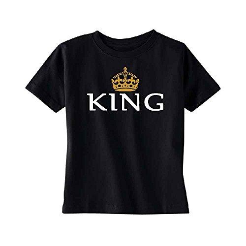 King Crown Toddler T-Shirt Quality Kids Black 4T