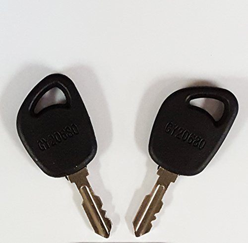Pair (2 keys) Keyman John Deere Lawn Mower Key-Ignition key for Cub Cadet, John Deere, Delat, DR, Poulan, Part Number GY20680