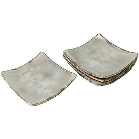 Kiyomizu Yaki Kobiki 6 3inch Set Of 5 Medium Plates Ceramic