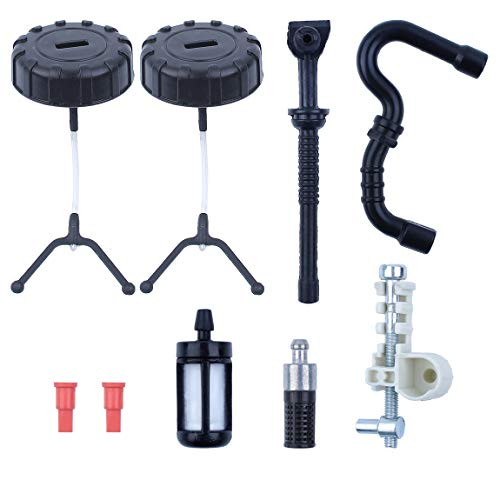 Fuel Oil Caps Hose Filter Chain Tensioner Screw Kit for Stihl 018 MS180 017 MS170 Gas Chainsaw Replacement Parts