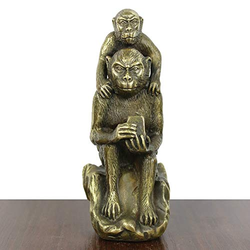 - RYYAIYL Bronze Orangutans Mother and Child Sculpture and Figurine Gibbon Animal Statue Home Decoration/1.77x2.56x5.5inches