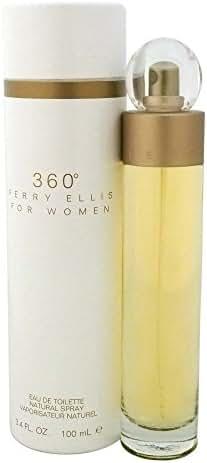 Perry Ellis 360 Eau De Toilette Spray 3.4 Oz/ 100 Ml for Women By 3.4 Fl Oz