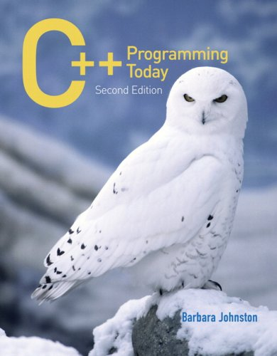 C++ Programming Today (2nd Edition) by Pearson